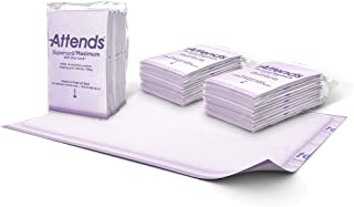 """Attends Supersorb Maximum, Premium Underpads with Dry-Lock Technology, Adult Incontinence Care, 30""""x36"""", 60Count"""