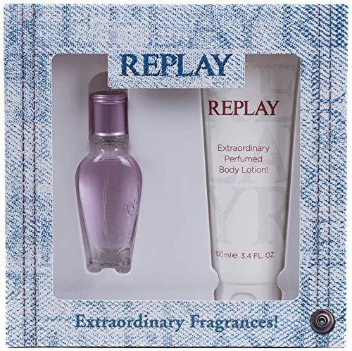 Replay Jeans Spirit Geschenkset für Sie (EdT Spray 20ml + Bodylotion 100ml)