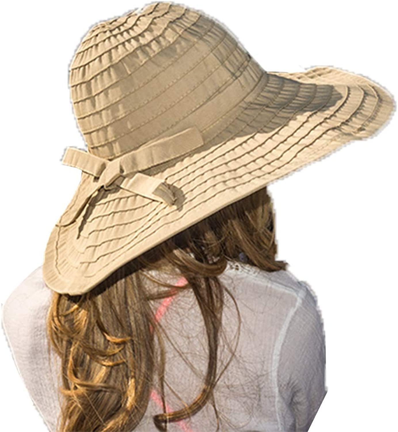 Women's Wide Brim Packable Sun Travel Hat for Large Heads  Ginger White