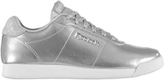 Official Reebok RoyalCharm Trainers Womens Silver/White Athleisure Sneakers Shoes