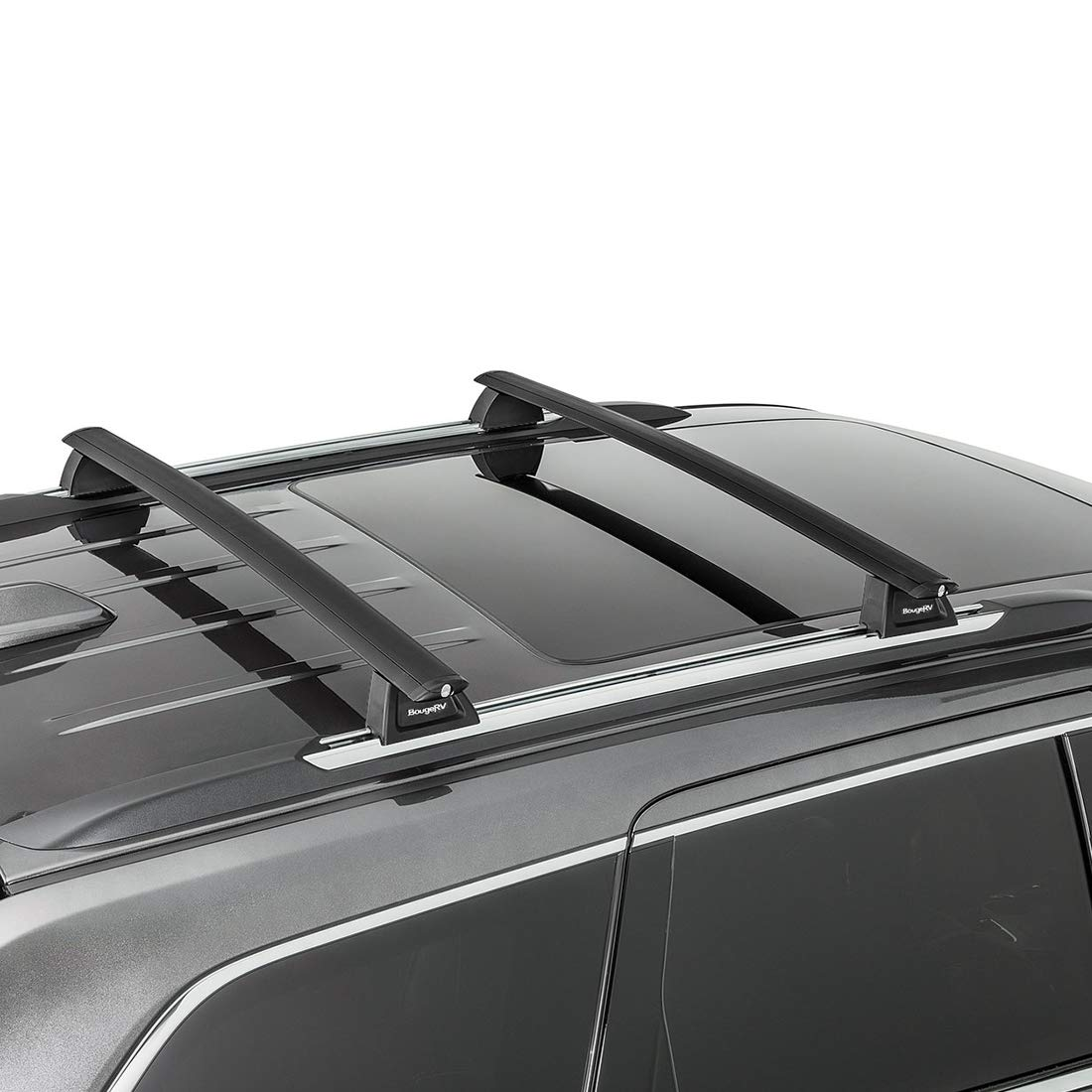 Aluminum Cross Bar Replacement for Rooftop Cargo Carrier Bag Luggage Kayak Canoe Bike Snowboard Skiboard BougeRV Car Roof Rack Cross Bars for 2014-2019 Nissan Rogue with Side Rails