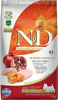 Farmina Natural & Delicious Grain-Free Pumpkin Chicken & Pomegranate Adult Dog Mini 5.5 lb