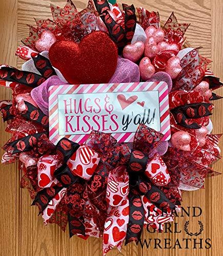 Valentines Wreath Wreaths Mesh Deco Max 82% OFF Wrea Max 61% OFF