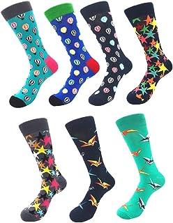 99fe3aa466f38 YoungSoul Chaussettes fantaisie homme et femme - Chaussettes rigolote  chaussette en coton peigné à motifs colorées