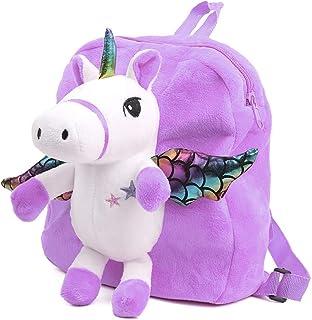Cartoon Backpack for Kids, Cute Toddler Backpack Snack Travel Bag Preschool Shoulder Bag, Plush Animal Backpack Stuffed Do...