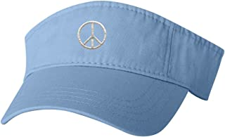 Adult Peace Sign Embroidered Visor Dad Hat