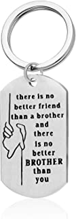Brother Gift Keychain Big Brother Little Brother Jewelry Gift Best Friend Gift Family Jewelry Keychain Brother Gift from S...