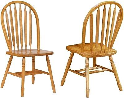 Amazon.com: IDS Online - Juego de 6 sillas de comedor con ...