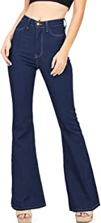 Lynwitkui Womens High Waisted Bell Bottom Jeans Flare Stretchy Denim Pants