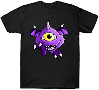 PENGPO Men's One Eyed One Horned Flying Purple People Eater Graphic Printed T-Shirt
