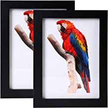 JAYONG 5×7 Picture Frames Made of Solid Wood High Definition Glass for Table Top..