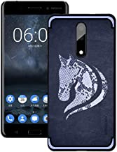 Nokia 8 Sirocco NXE Snake Textured Horse Pattern TPU Back Case Cover - Blue