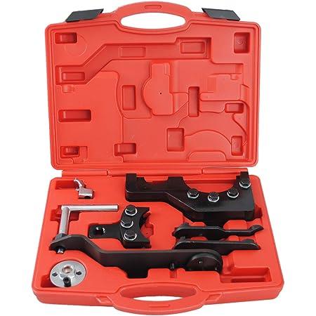 Cclife Motor Nockenwellen Einstellwerzeug Steuerkette Zahnriemen Arretierung Werkzeug Kompatibel Mit Vw T5 2 5 4 9d Tdi Auto