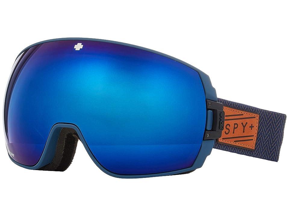 Spy Optic Legacy (Herringbone Navy Happy Rose w/ Dark Blue Spectra+Happy Light Gra) Snow Goggles