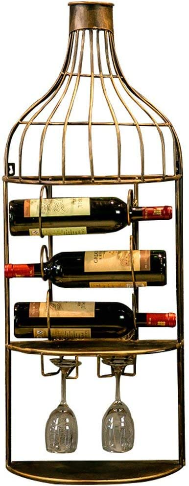 55% OFF ZXY-NAN Wine Racks Iron Rack Bar Decoration Retro Gifts Different