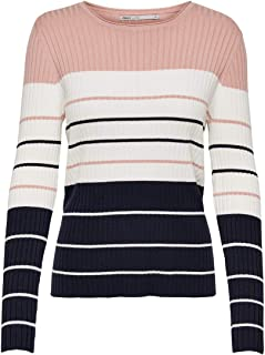 Only Onlnatalia Stripe L/S Pullover Knt Noos Suéter para Mujer
