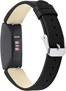 Mtozon Leather Bands Compatible Fitbit Inspire& Inspire HR, Replacement Accessories Straps Wristband Women Men