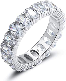 Luxury Oval Cut Wedding Engagement Band For Women Fashion 925 Sterling Silver Shining Clear Cz Anniversary Promise Rings F...