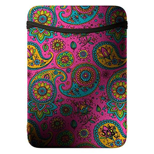 SL8 - Funda de Neopreno para iPad Air, iPad Pro y Galaxy Tab (Reversible), diseño de Cachemira, Color Rosa