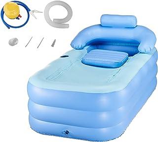 CO-Z Bañera Inflable para Adultos Piscina para Niños Spa Masaje Plegable Cama para Baño/ Jardín (Azul)