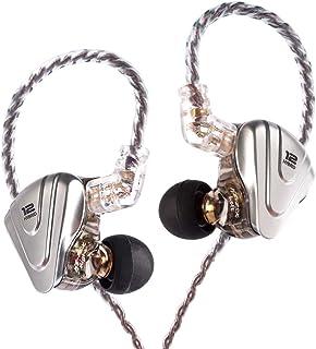 KINBOOFI KZ ZSX monitor de auriculares para oídos, auriculares HiFi híbridos con controladores 5BA 1DD 6, auriculares KZ con cable desmontable de 2 pines para banda de iglesia y músico Singer (negro sin micrófono)