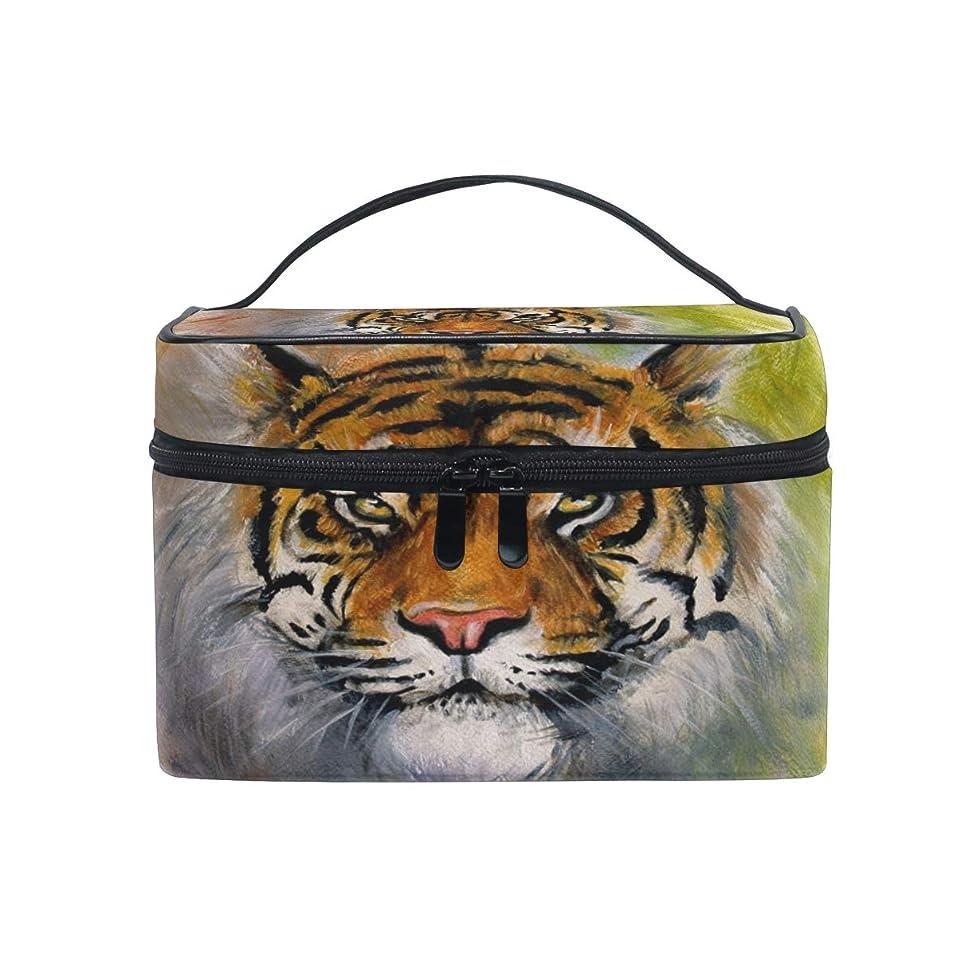 環境保護主義者天気メンダシティUOOYA タイガース 動物柄 おしゃれ メイクボックス 大容量 持ち運び メイクポーチ 人気 小物入れ 通学 通勤 旅行用 プレゼント用