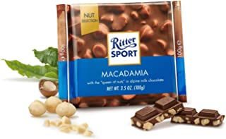 Ritter Sport Milk Chocolate with Macadamia Nuts,  100 g