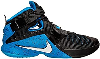 Nike Mens Lebron Soldier IX Basketball Shoe Black/White/Soar Sz 10 D(M) US