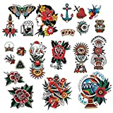 CARGEN Classic Temporary Tattoo Old School Stickers Different Sizes Vintage...