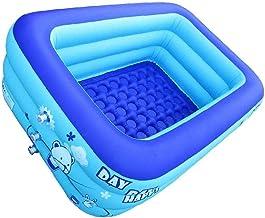 Tuimiyisou Kiddie Piscina Piscinas Portátiles para Niños, Sealive Bañera Inflable del Bebé Rectangular Piscina Fácil De Montar, Azul 120x80x50 Cm