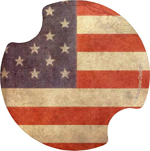 Thirstystone Full American Flag Car Cupholder Coaster, 2-Pack