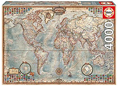 4,000 Piece Puzzle - The World Map by John N. Hansen Co. Inc.