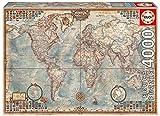Educa-El Mundo, Mapa Político Puzle, 4 000 Piezas, Multicolor (14827)