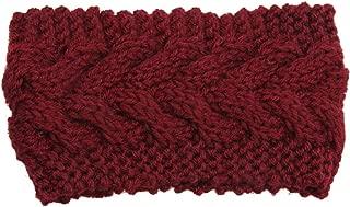 Victoria-show-headwear Winter Warmer Ear Knitted Headband Turban for Lady Women Crochet Bow Wide Stretch Hairband