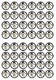 48 decoraciones comestibles de papel de arroz con diseño de muñeco de nieve de Navidad # 1 de grosor de vainilla dulce, obleas de papel de arroz, mini cupcakes, galletas