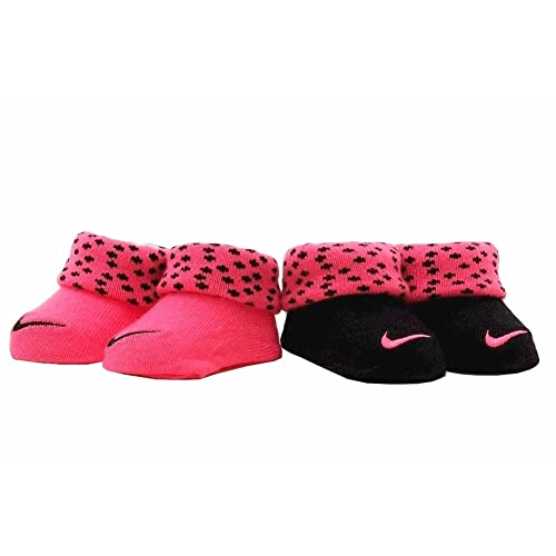 59473ecdc08 Nike Baby Swoosh 2 Pack Baby Booties for Boys and Girls (0-6M)
