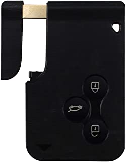 Estuche para llaves con tarjeta de control remoto de 3 botones, compatible con Renault Clio Megane Grand Scenic (con hoja)