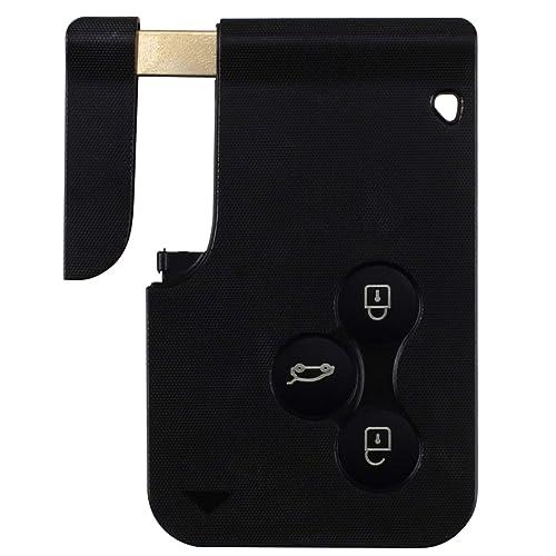Estuche para llaves con tarjeta de control remoto de 3 botones, compatible con Renault Clio