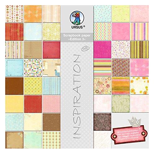 Ursus 70820099 - Scrapbook paper Block Edition 3, ca. 30,5 x 30,5 cm, 44 Blatt sortiert in 44 Motiven