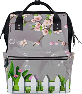 12708cd7e2 imobaby Spring Garden Flower Grass Changing Bags Large Capacity Handbags  Canvas Shoulder Bag Backpack