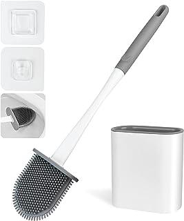 Brosse WC et Support,Brosse de Toilette en Silicone de Salle de Bains,Balayette WC Séchage Rapide avec Base de Filtre à Ea...
