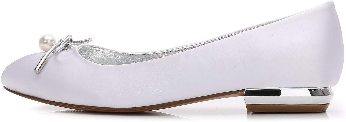 Mnvoa Ronde kant platte vlekken schoenen bruiloft Champagne