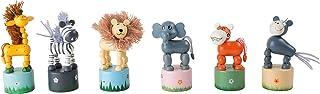 """small foot 7924 Tryckdjur """"Afrika"""", träfigurer set, sex olika djurträfigurer, från 3 år"""