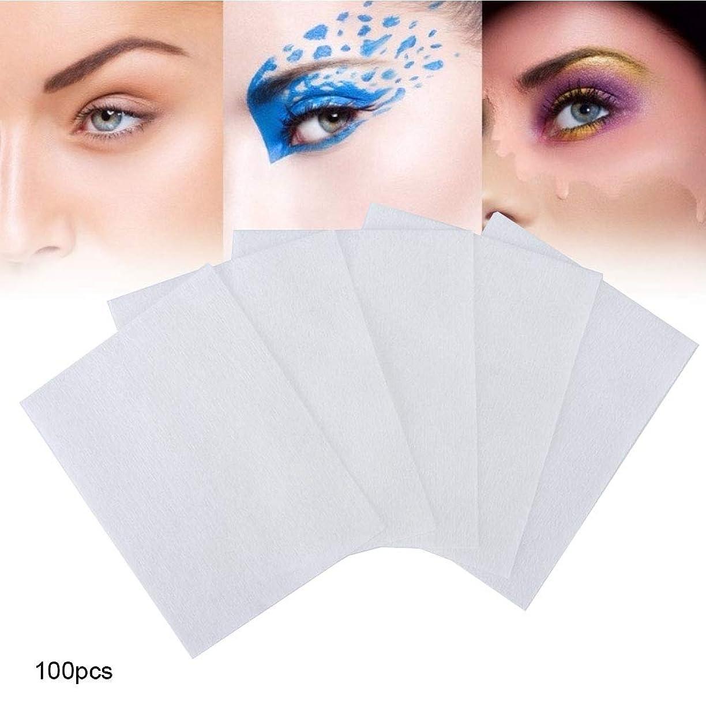 ホームレスに勝る品100個 化粧コットンパッド 化粧を削除する 使い捨て洗顔料