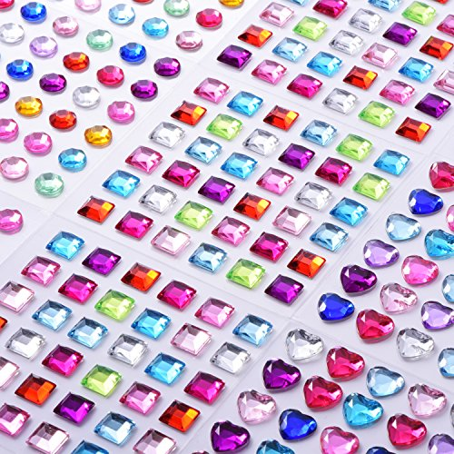 9 Sheets Self-adhesive Rhineston...