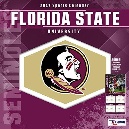 "Turner Licensing Sport 2017 Florida State Seminoles Team Wall Calendar, 12""X12"" (17998011800)"