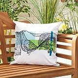 Gardenista Cojín Relleno Resistente al Agua y para Exteriores | Diseño con Patrones Coloridos | Accesorio para Muebles de Jardín| Almohadas Decorativas de | 45 x 45 cm (Peacock)