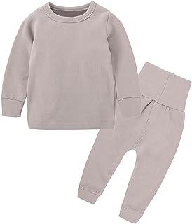Little Boys Girls Cotton Pajamas Thermal Underwear Set Soft Warm Jammies