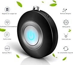 Eva zzy USB Portable Wearable Air Purifier, Personal Mini Air Necklace Negative Ion Air Freshener - No Radiation Low Noise for Adults Kids (Black)