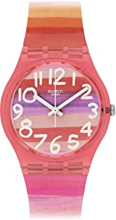 Swatch Women's GP140 Astilbe Pink Plastic Watch